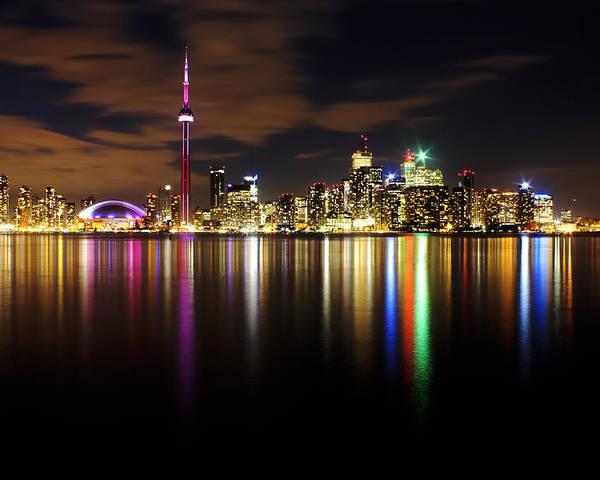 Toronto Poster featuring the photograph Colorful Toronto by Matt Trimble