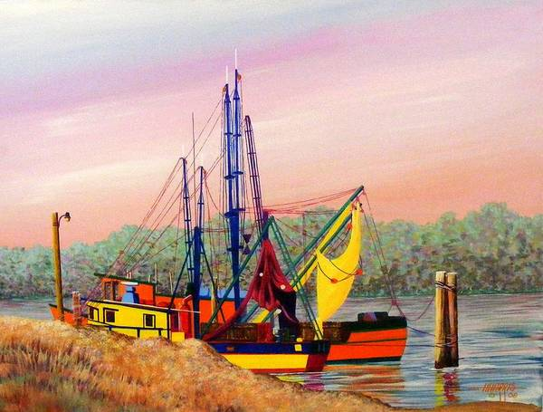 Landscape Poster featuring the painting Colorful Tribute by Hugh Harris