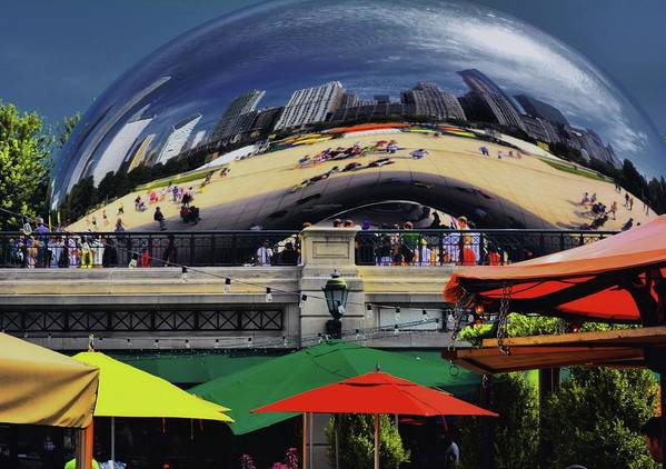 Chicago Skyline Poster featuring the photograph Colors N Curves by Robert McCubbin