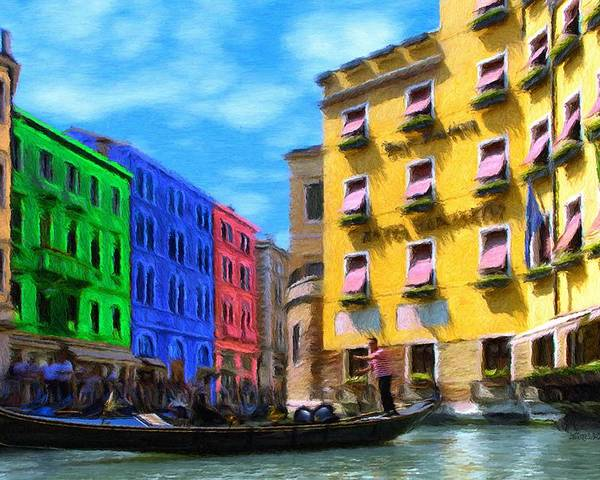 Color Poster featuring the painting Colors Of Venice by Jeff Kolker
