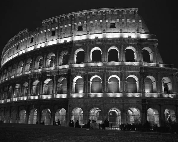 Italy Poster featuring the photograph Colosseum by Kathy Schumann