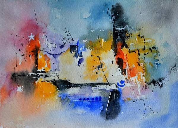 Abstract Poster featuring the painting Colourful Christmas by Pol Ledent
