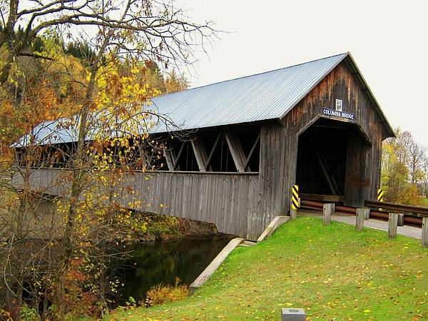 Nh Poster featuring the photograph Columbia Covered Bridge by Wayne Toutaint