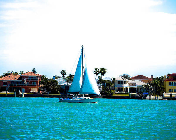 Sailboat Poster featuring the photograph Come Sail Away by Amanda Liner