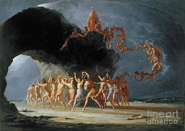 come Unto These Yellow Sands Poster featuring the painting Come Unto These Yellow Sands by Richard Dadd