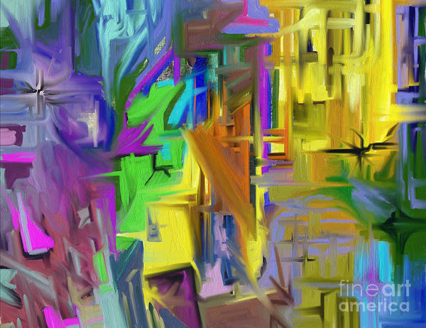 Abstract Poster featuring the painting Comfort by Jo Baby