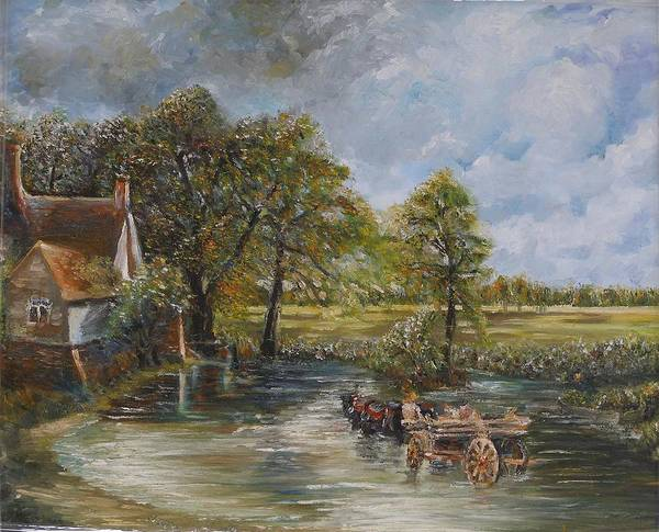 Landscape Poster featuring the painting Coming Home by Wendy Chua