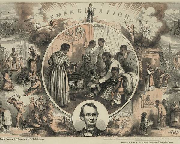 History Poster featuring the photograph Commemoration Of The Emancipation by Everett