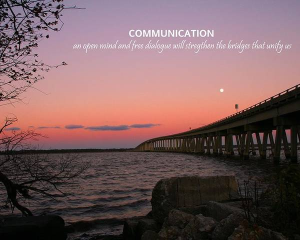 Communication Poster featuring the photograph Communication by Pathways Life Coaching