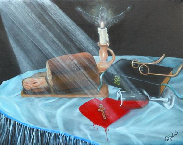 Oil Paintings Poster featuring the painting Communion by Joni McPherson