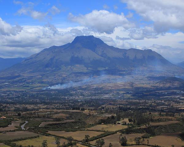 Mount Imbabura Poster featuring the photograph Communities Around Mount Imbabura by Robert Hamm