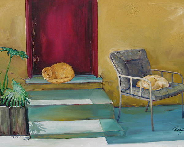 Cat Poster featuring the painting Companions by Karen Doyle
