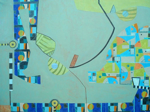 Abstract Poster featuring the painting Composition II-07 by Maria Parmo