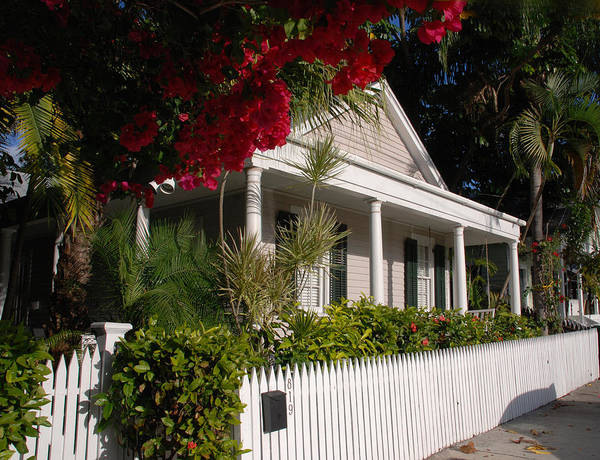 Photography Poster featuring the photograph Conch House In Key West by Susanne Van Hulst