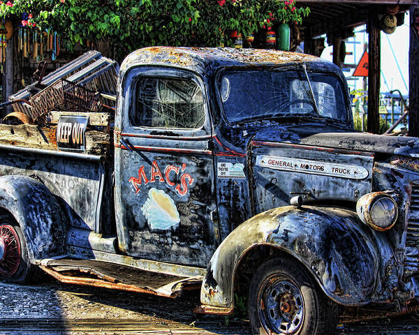 Key West Poster featuring the photograph Conch Truck by Joetta West