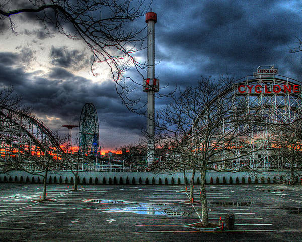 Cyclone Poster featuring the photograph Coney Island by Bryan Hochman