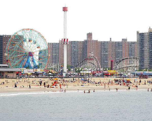 Horizontal Poster featuring the photograph Coney Island, New York by Ryan McVay