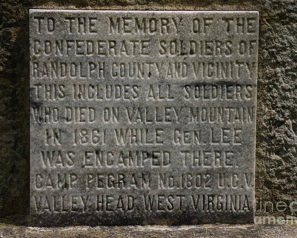 Confederate Soliders Poster featuring the photograph Confederate Solider Monument by Randy Bodkins