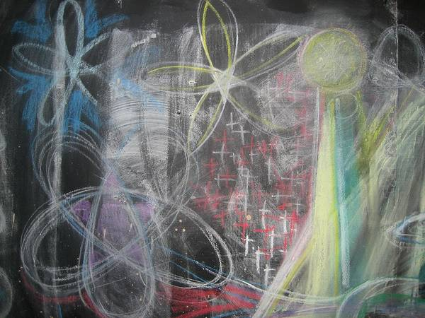 Chalk Poster featuring the photograph Conflagration Of Light And Form by Stephen Hawks