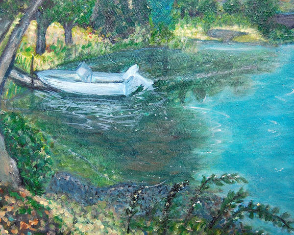 Connecticut Poster featuring the painting Connecticut River by Carolyn Donnell