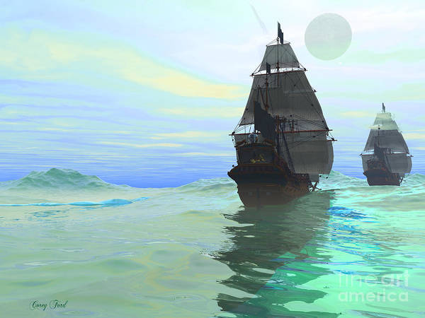 Sailing Poster featuring the painting Consort by Corey Ford