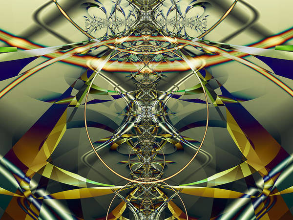 Fractal Poster featuring the digital art Construction Rings by Frederic Durville