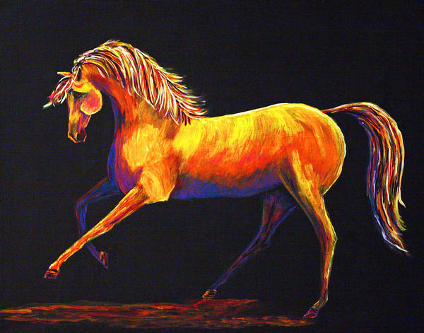 Horse Poster featuring the painting Contemporary Equine Painting Illuminating Spirit by Jennifer Morrison Godshalk
