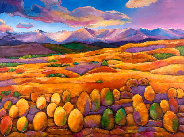 Landscape Art Poster featuring the painting Contentment by Johnathan Harris