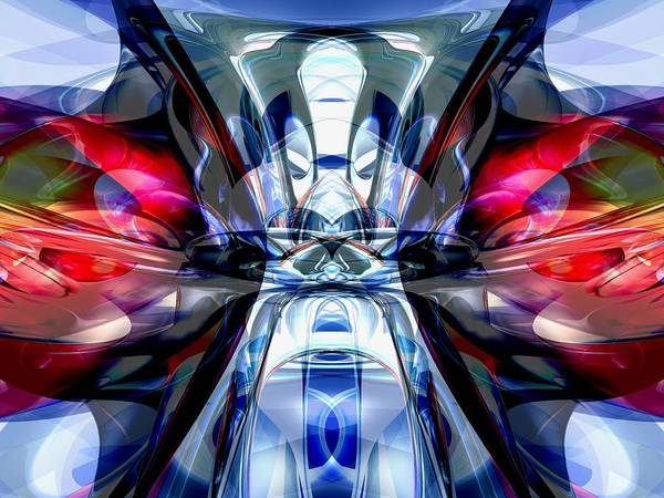 3d Poster featuring the digital art Convergence Abstract by Alexander Butler