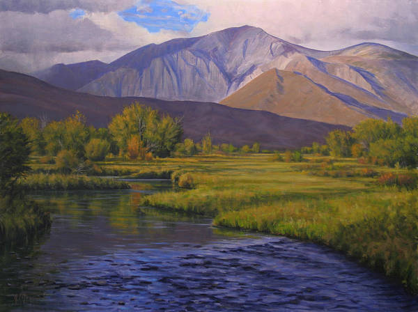 High Sierras Poster featuring the painting Convict Creek-eastern Sierras by Joe Mancuso