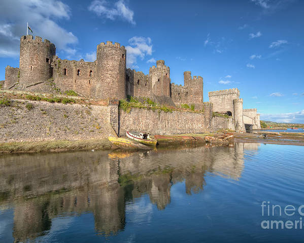 Conwy Castle Poster featuring the photograph Conwy Castle by Adrian Evans