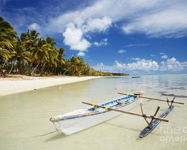 Afternoon Poster featuring the photograph Cook Islands, Aitutaki by Bob Abraham - Printscapes