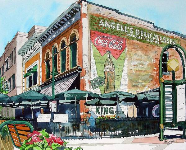 Watercolor Poster featuring the painting Coopersmith's Again by Tom Riggs