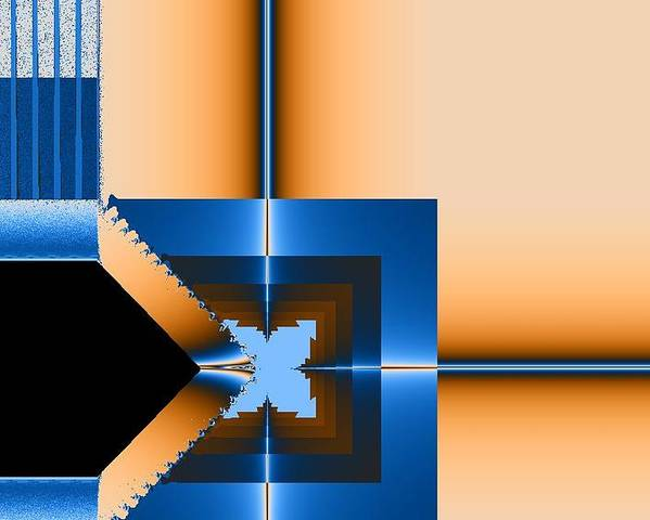 Digital Poster featuring the digital art Copper Blue by Thomas Smith