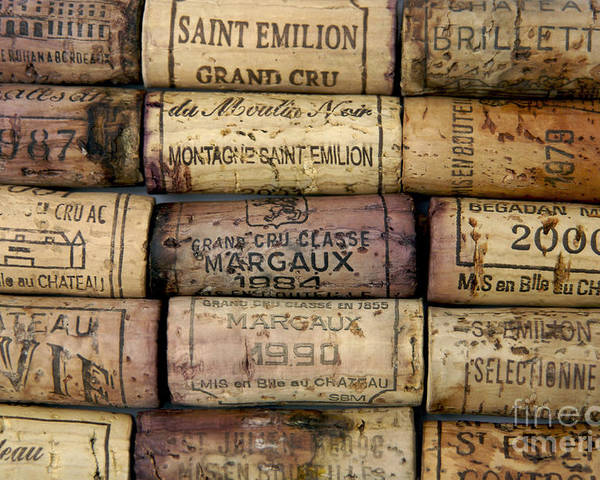 Bouchons Poster featuring the photograph Corks Of French Wine by Bernard Jaubert
