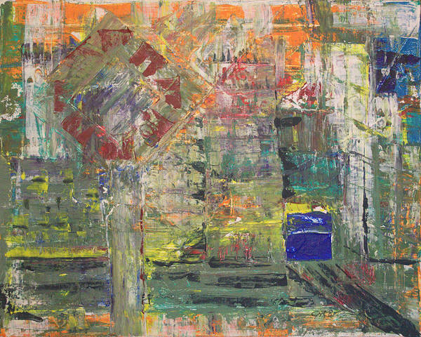 Abstract Painting Poster featuring the painting Corner Deli by J R Seymour
