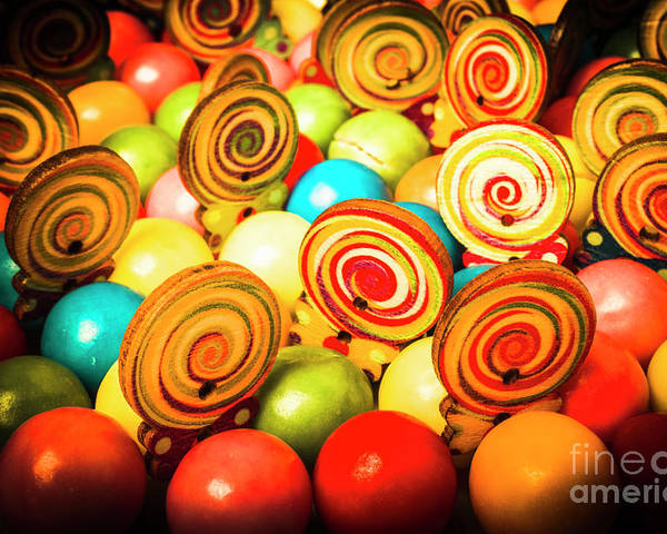 Colourful Poster featuring the photograph Corner Store Candies by Jorgo Photography - Wall Art Gallery