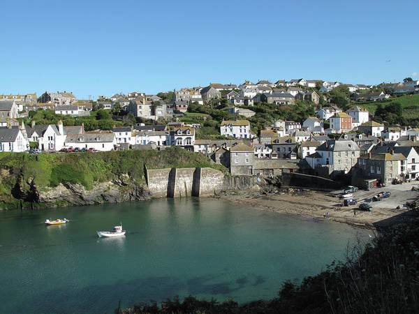 Horizontal Poster featuring the photograph Cornish Fishing Village Of Port Isaac, Cornwall by Thepurpledoor