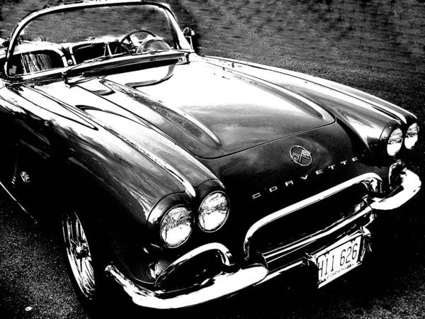 Car Poster featuring the photograph Corvette by Audrey Venute