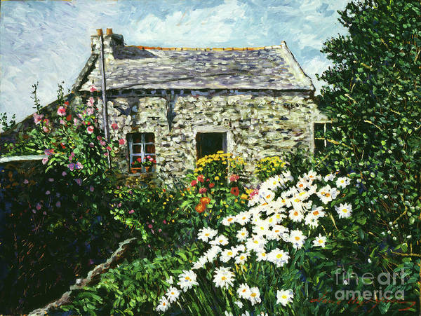 Landscape Poster featuring the painting Cottage Of Stone by David Lloyd Glover