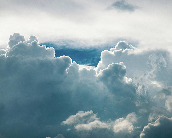 Clouds Poster featuring the photograph Cotton Clouds by Marc Wieland