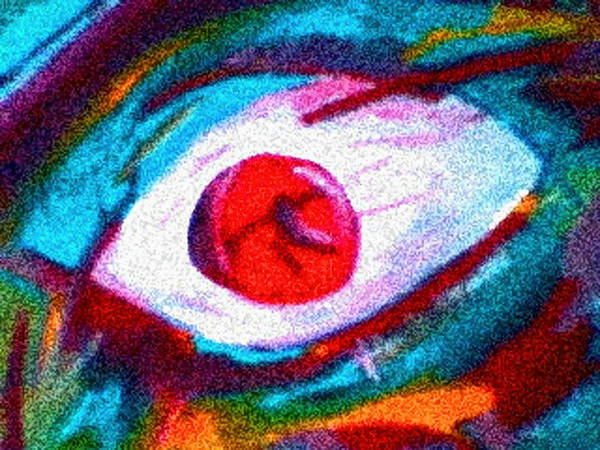 Eye Poster featuring the digital art Cought In Her Eye by John Toxey