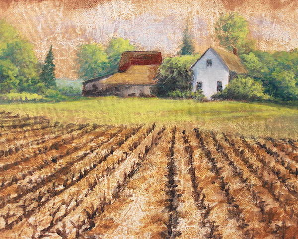 House Poster featuring the painting Country Harvest by Diana Miller