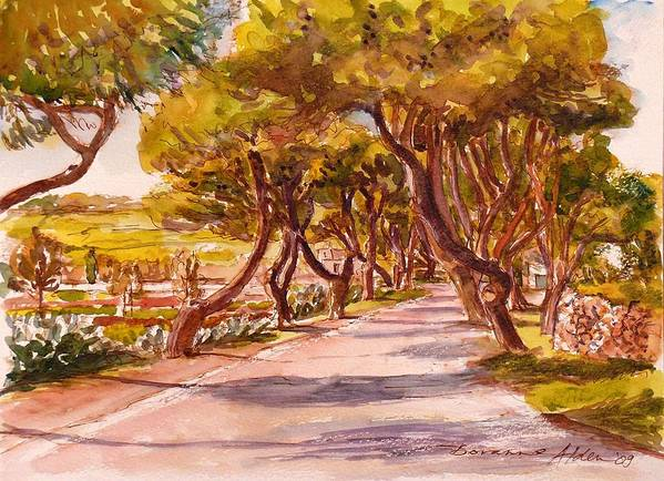 Landscape Poster featuring the painting Country Lane by Doranne Alden