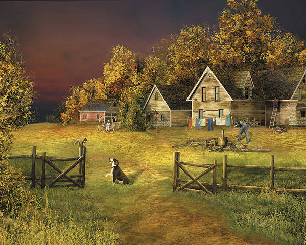 Country Landscape Poster featuring the digital art Countryliving by Russell Cleversley