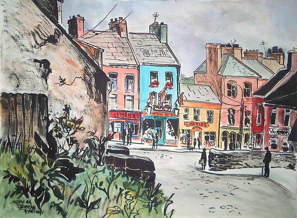 Parsons Poster featuring the painting County Clare Village by Sheila Parsons