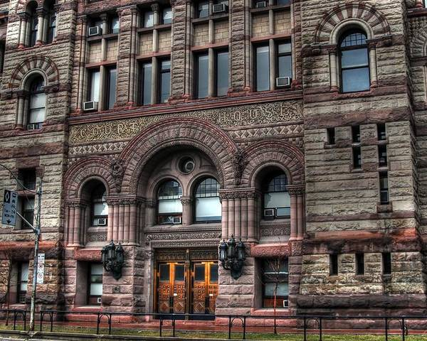 Rcouper Poster featuring the photograph Court House by Rick Couper