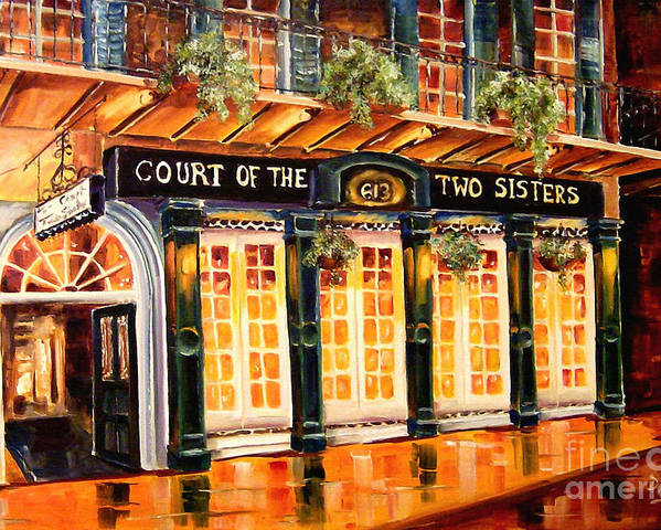 New Orleans Poster featuring the painting Court Of The Two Sisters by Diane Millsap