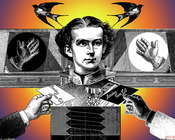 Ludwig Ii Of Bavaria Poster featuring the digital art Courtship Of X The Unknown by Eric Edelman
