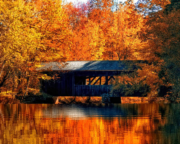 Covered Bridge Poster featuring the photograph Covered Bridge by Joann Vitali